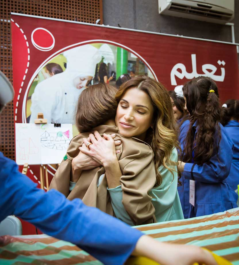 queen rania and child